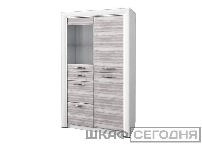 Шкаф-витрина Анрэкс OLIVIA 1V2D3S