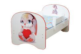 Детская кровать с фотопечатью без ящика Зайчата