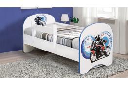 Детская кровать с фотопечатью Мотоцикл