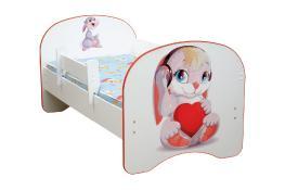 Детская кровать с фотопечатью Зайчата