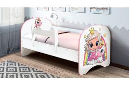 Детская кровать с фотопечатью Принцесса