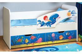 Кровать детская Матрица Дельфин с фотопечатью