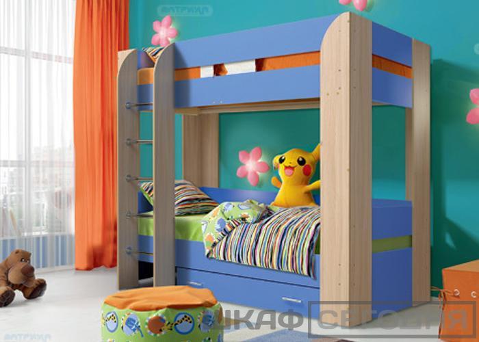 Кровать детская с ящиками Матрица Юниор-6