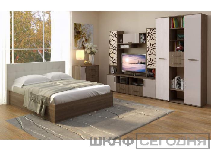 Кровать двуспальная BTS Баунти с мягким изголовьем с подъемным механизмом