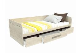 Кровать с ящиками СБК Мале