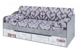 Кровать-диван с ящиками (0,9*2,0) SV-Мебель Грей