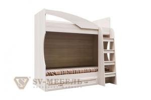 Кровать двухъярусная SV-Мебель Вега ДМ-16 (с ящиком) (Без матраца 0,8*1,86)