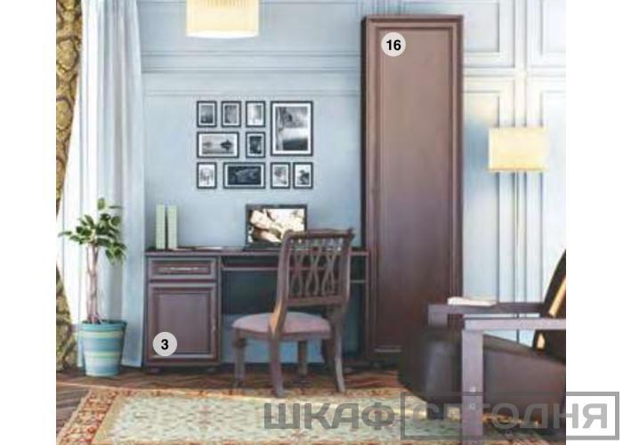 Стеллаж 2-х дверный СТОЛПЛИТ Верди СБ-1443