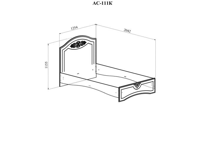 Кровать односпальная Compass Ассоль плюс АС-111К