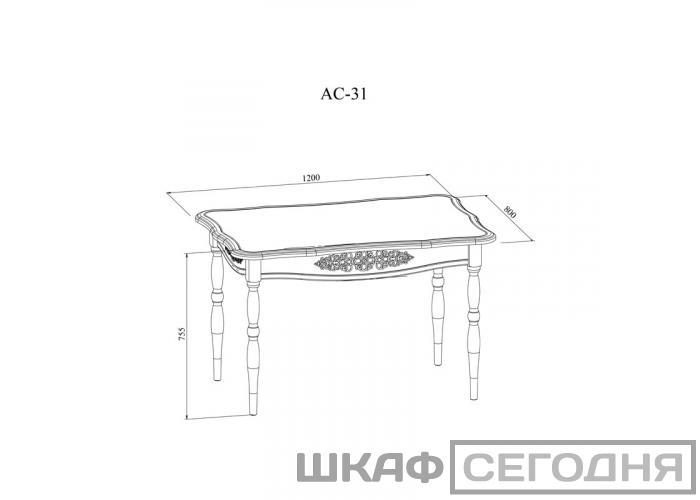 Стол кухонный Compass Ассоль Плюс АС-31