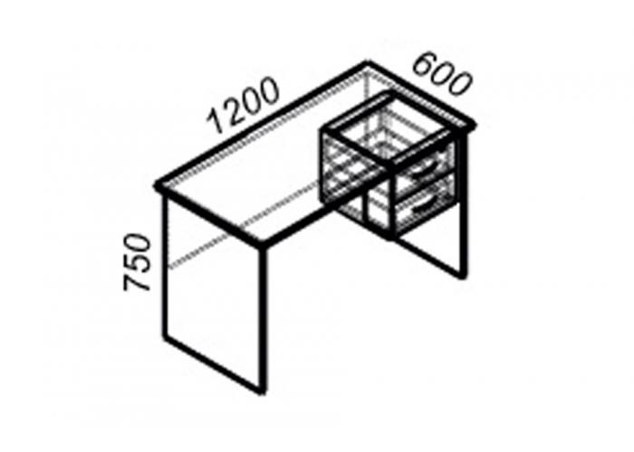Офисный стол ЛОББИ Стандарт СМ-105