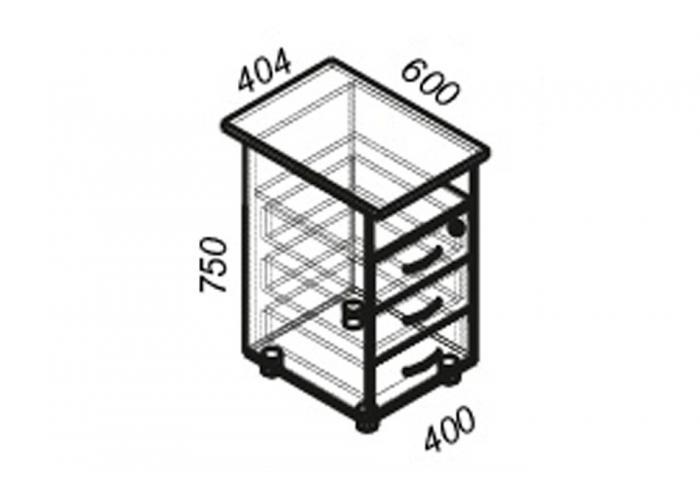 Офисная тумба ЛОББИ Стандарт СМ-202