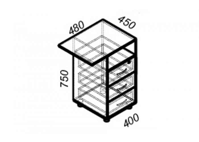 Офисная тумба ЛОББИ Стандарт СМ-204