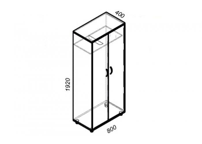 Шкаф для одежды ЛОББИ Стандарт СМ-304