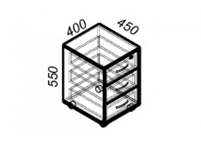 Офисная тумба ЛОББИ Стандарт СМ-201