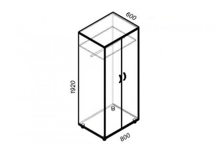 Шкаф для одежды ЛОББИ Стандарт СМ-305
