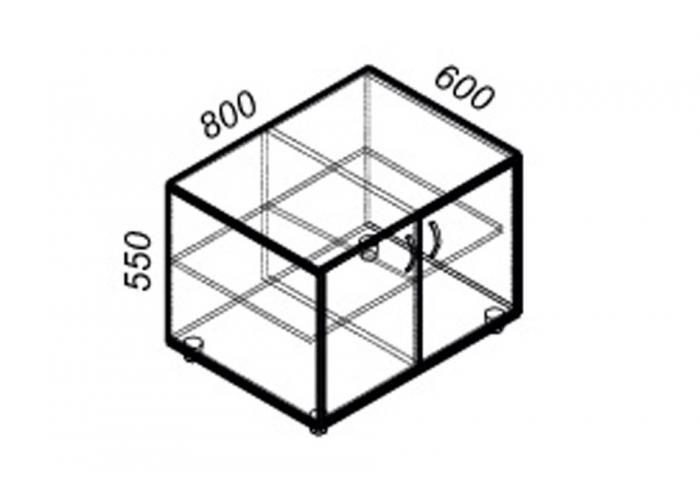 Офисная тумба ЛОББИ Стандарт СМ-203