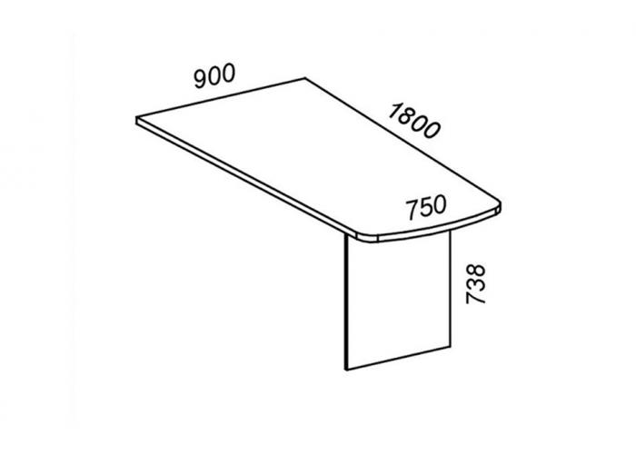 Стол приставной ЛОББИ Верона КД-102