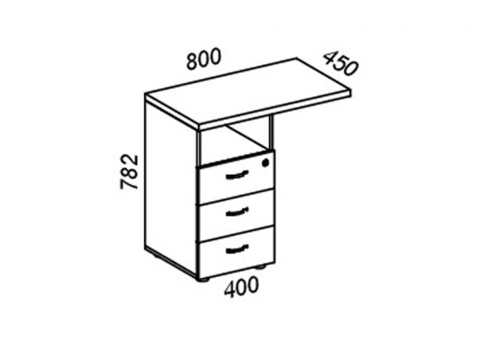 Офисная тумба ЛОББИ Верона КД-203