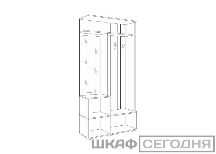 Шкаф комбинированный Моби Глория 105/02