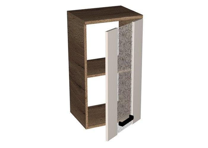 Шкаф навесной со стеклом СБК Адель ШСТ-40