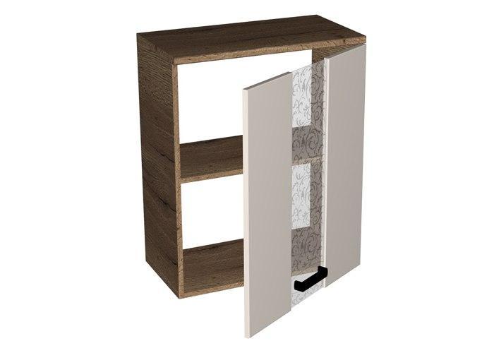 Шкаф навесной со стеклом СБК Адель ШСТ-60
