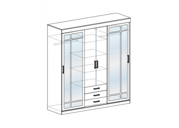 Шкаф-купе Стендмебель ЛИДЕР-2