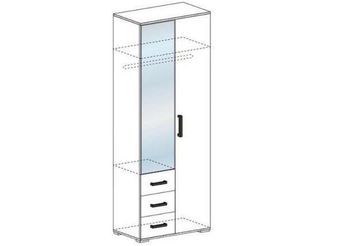 Шкаф со скалкой Стендмебель Яна ШК 751