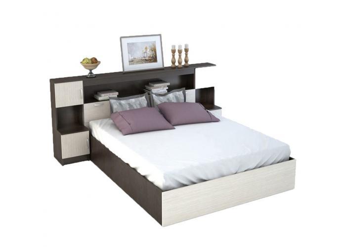 Кровать с прикроватным блоком Стендмебель Бася